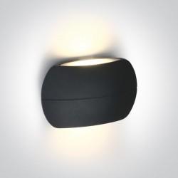 One Light kinkiet antracyt ciekawy design elewacja wnętrze Tarsina 67378/AN/W IP54