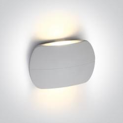 One Light kinkiet biały ciekawy design elewacja wnętrze Tarsina 67378/W/W IP54