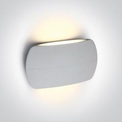 One Light elegancki kinkiet w kolorze białym Tarsina 2 67378A/W/W IP54