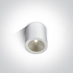 One Light biała lampa sufitowa 10W dom wnętrze ogród Titani 67380/W/W IP54