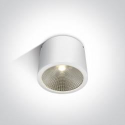 One Light biała lampa sufitowa 25W dom wnętrze ogród Titani 67380/W/W IP54