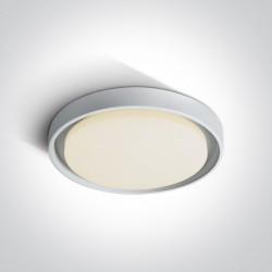 One Light plafon LED 34 cm dom wnętrze ogród sklep Moulki 67384/W/W IP54