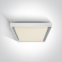 One Light plafon kwadratowy 34 do domu ogrodu Pasio 67384A/W/W IP54