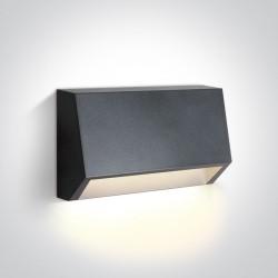 One Light kinkiet LED odporny na pogodę dom ogród Diminio 67386A/AN/W IP65