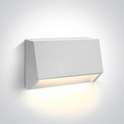 One Light kinkiet LED odporny na pogodę dom ogród Diminio 67386A/W/W IP65