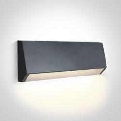 One Light kinkiet LED odporny na pogodę dom ogród Diminio 67386C/AN/W IP65