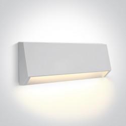 One Light kinkiet LED odporny na pogodę dom ogród Diminio 67386C/W/W IP65