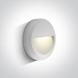 One Light kinkiet LED okragły ozdobny Kefalari 67388A/W/W IP65