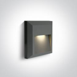 One Light kinkiet LED dom ogród elewacja Kesario 67388B/AN/W IP65