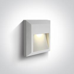 One Light kinkiet LED dom ogród elewacja Kesario 67388B/W/W IP65