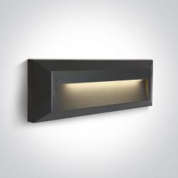 One Light kinkiet LED mieszkanie elewacja prostokątny Kesario 2 67388C/AN/W IP65