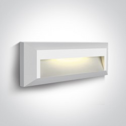 One Light kinkiet LED mieszkanie elewacja prostokątny Kesario 2 67388C/W/W IP65