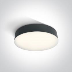 One Light plafon okrągły antracyt LED 32 cm dom ogród Velina 67390/AN/C IP65