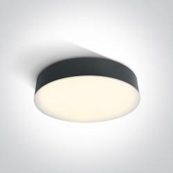 One Light plafon okrągły antracyt LED 32 cm dom ogród Velina 67390/AN/W IP65