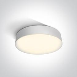 One Light plafon okrągły biały LED 32 cm dom ogród Velina 67390/W/W IP65