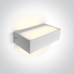 One Light kinkiet prostokątny LED dom ogród wnętrze Bevino 2 67392/W/W IP65