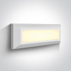 One Light kinkiet prostokątny LED dom ogród sklep Killini 67394/W/W IP65