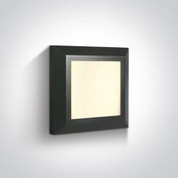 One Light kinkiet kwadratowy slim LED dom ogród wnętrze Stymfalia 67394A/AN/W IP65