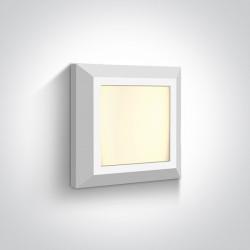 One Light kinkiet kwadratowy slim LED dom ogród wnętrze Stymfalia 67394A/W/W IP65