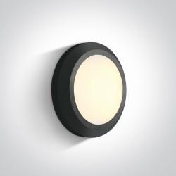 One Light kinkiet LED okrągły 15 cm dom ogród sklep Karteri 67394B/AN/W IP65