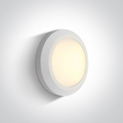 One Light kinkiet LED okrągły 15 cm dom ogród sklep Karteri 67394B/W/W IP65