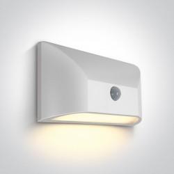 One Light kinkiet LED bialy z czujnikiem ciekawy design Dendro 67396A/W/W IP65