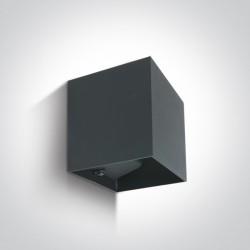 One Light kinkiet LED kostka światło góra dół Rozena 67398C/AN/W IP54