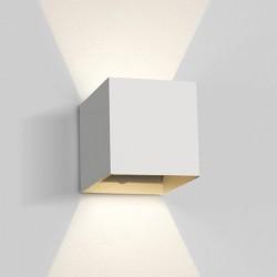 One Light kinkiet LED kostka światło góra dół Rozena 67398C/W/W IP54