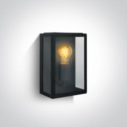 One Light kinkiet zewnętrzny z żarówką retro lampion Gabbia 67406/B