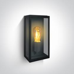 One Light kinkiet z żarówką w szklanym lampionie Gabbia A 67406A/B