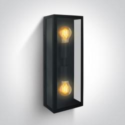 One Light kinkiet lampion z dwiema żarówkami elwacja dom ogród Gabbia 2A 67406B/B IP43