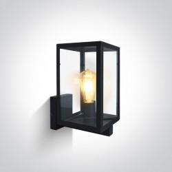 One Light kinkiet lampion z dwiema żarówkami elwacja dom ogród Gabbia 2A 67406C/B IP43