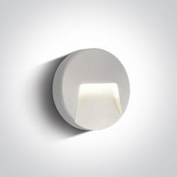 One Light kinkiet LED zewnętrzny okrągły dom elewacja Drimos 67414/W/W IP65