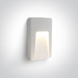 One Light kinkiet LED zewnętrzny prostokąt dom elewacja Lycuria 67416/W/W IP65