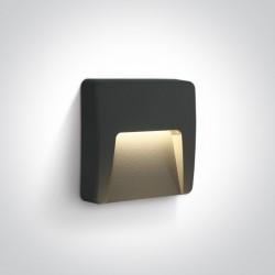 One Light kinkiet LED antracytowy do montażu na zewnątrz Lycuria 2 67418/AN/W IP65