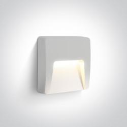 One Light kinkiet LED biały do montażu na zewnątrz Lycuria 2 67418/W/W IP65