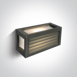 One Light kinkiet zewnętrzny antracytowy z kratką Psofida 1 67420A/AN IP54