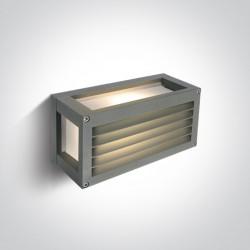 One Light kinkiet zewnętrzny szary z kratką Psofida 1 67420A/G IP54