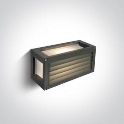 One Light kinkiet pudełko z kratką antracyt Sellio 67420AL/AN/W IP54
