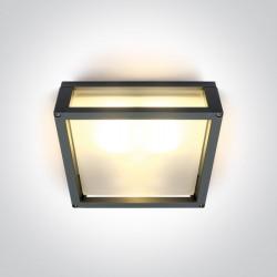 One Light kinkiet kwadratowy pasujący do mieszkania Psofida S 67420B/AN IP54