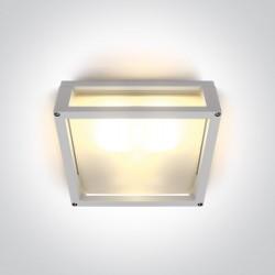 One Light kinkiet kwadratowy pasujący do mieszkania Psofida S 67420B/W IP54