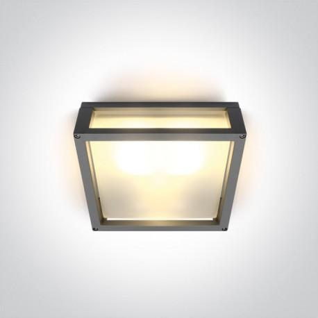 One Light kinkiet kwadratowy 25 cm pasuje do mieszkania Astras 67420BL/G/W IP54