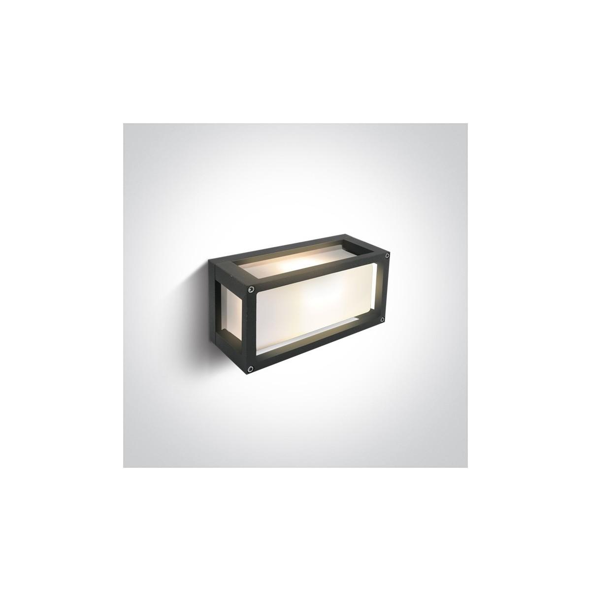 One Light kinkiet antracytowy do mieszkania domu elewacja Kalfas 67420L/AN/W IP54