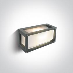 One Light kinkiet szary do mieszkania domu elewacja Kalfas 67420L/G/W IP54