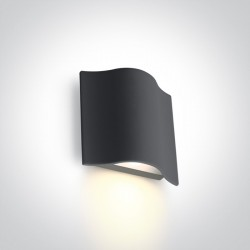 One Light kinkiet zewnętrzny wyjątkowy kształt Efyra 67422/AN/W IP54