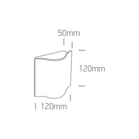 One Light kinkiet zewnętrzny wyjątkowy kształt Efyra 67422/W/W IP54