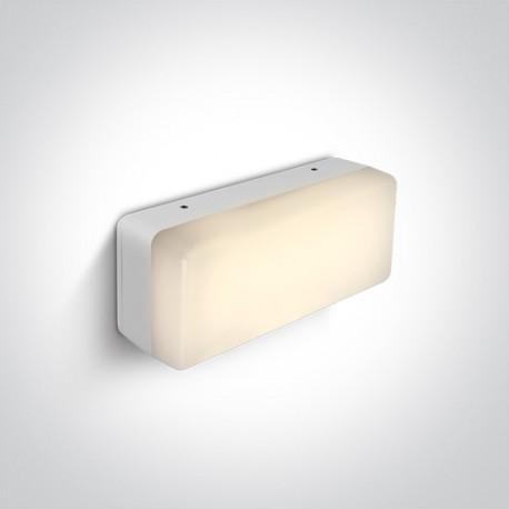 One Light kinkiet LED biały uniwersalny Orea 67424/W/W IP54