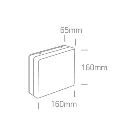 One Light prosty kinkiet kwadratowy biały Orea 2 67424A/W/W IP54