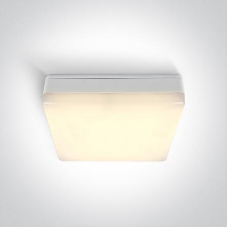 One Light prosta lampa sufitowa biała uniwersalna Orea 3 67424B/W/W IP54