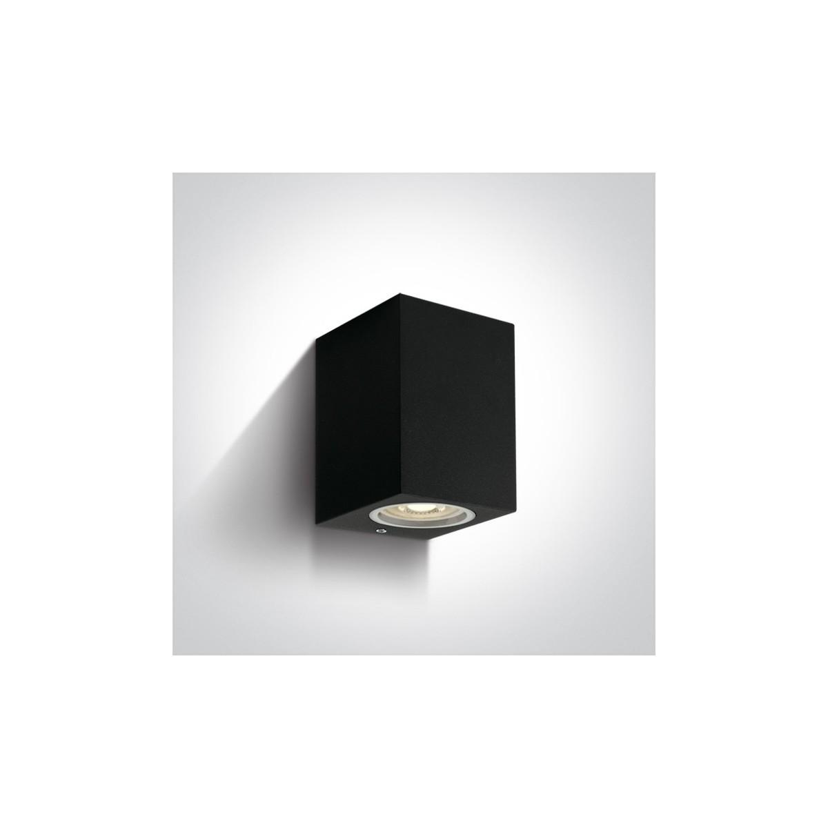 One Light kinkiet kostka czarny Arco 67426/B IP65